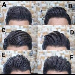 Cabelo humano preto do jato peruca com laço frontal natural linha fina mono plutônio dos homens hairpieces sistema de substituição