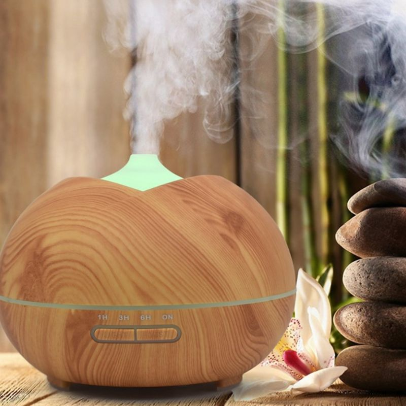 300ml Fragrance Essential Oil Diffuser Wood Grain Air Humidifier for Home Office