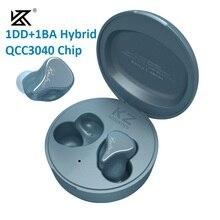 KZ SKS kablosuz oyun kulaklığı kulaklık TWS Bluetooth 5.2 kulakiçi 1DD + 1BA hibrid teknolojisi QCC3040 çip HiFi bas kulaklık