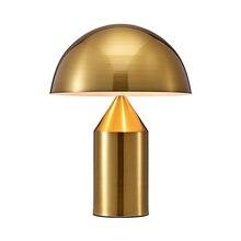 цена на Nordic Simple Table Lamp Mushroom Metal Modern Classic Table Light for Living Room Desk Lighting Decoration Light