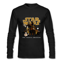 STAR WARS Resistance Victory Long Sleeve T-shirt inter milan men's spring autumn round collar casual cotton full sleeve Tshirt(China)