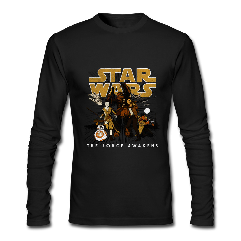 STAR WARS Resistance Victory Long Sleeve <font><b>T</b></font>-<font><b>shirt</b></font> <font><b>inter</b></font> <font><b>milan</b></font> men's spring autumn round collar casual cotton full sleeve Tshirt image