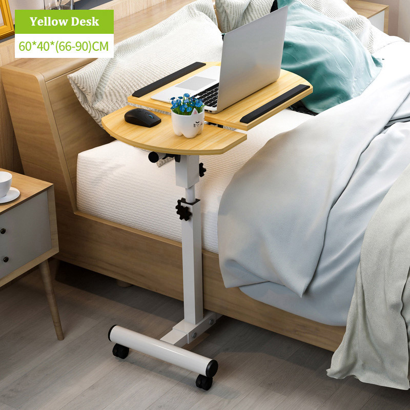 Portable Adjustable Laptop Table with Wheel Rotate Standing Notebook Computer Table Lifting Desk for Sofa Bedside Study|Laptop Desks| |  - title=
