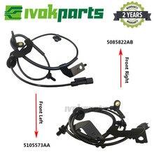 2 stücke ABS Rad Geschwindigkeit Sensor 5105572AA 5105573AA Für DODGE CALIBER Jeep COMPASS PATRIOT 1,8 2,0 2,2 2,4 CRD Vorne links & Rechts
