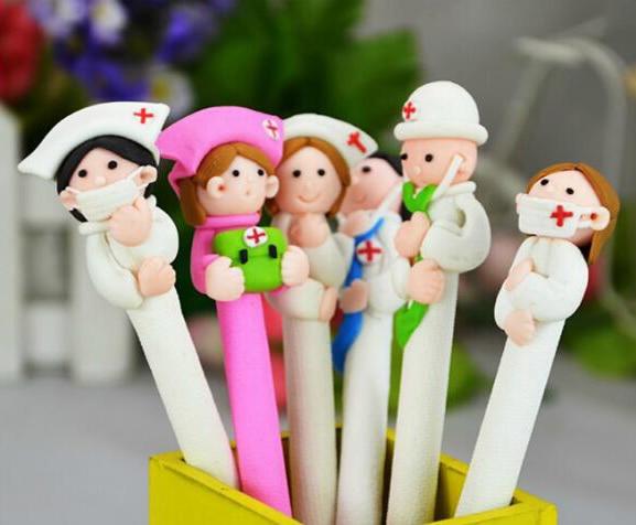 5pcs/lot Novelty Medical Staff Ballpoint Pen , Doctor And Nurse Ball Pen As School & Office Writing Supplies
