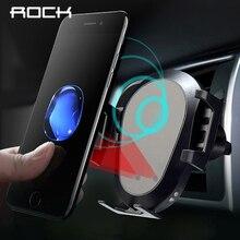 Rocha inteligente infravermelho 10 w qi carregador de carro sem fio para iphone xr xs max samsung rápido carregamento sem fio