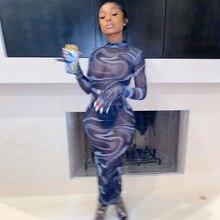 Пикантные прозрачные винтажные Сетчатое женское Макси платье
