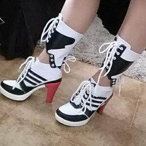 Image 4 - Đồ Chơi Cosplay Con Trưởng Thành Phụ Kiện Giày Boot Joker Quinn Và Tự Sát Đội Hình Harley Giày Trang Phục Trang Phục Nữ Hóa Trang Halloween