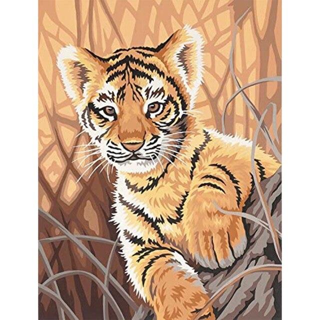 Набор для рисования по номерам на холсте с животными
