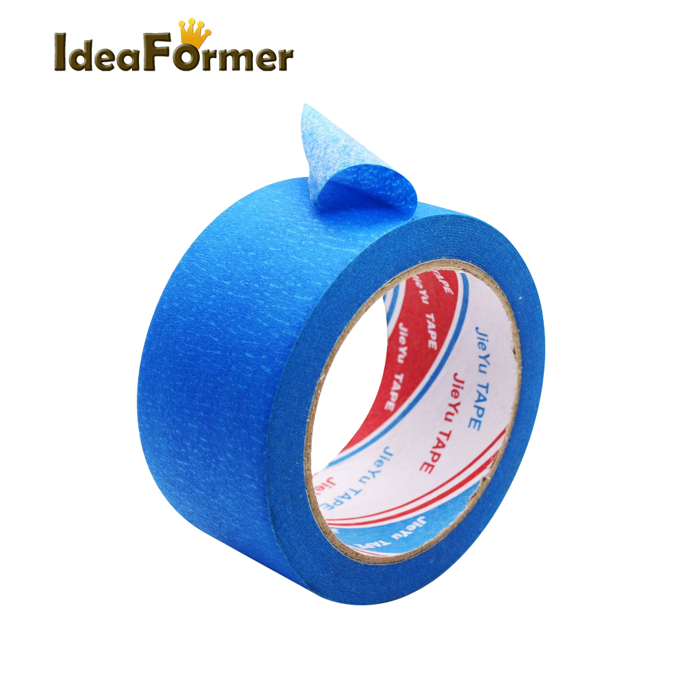 3D Printer High Temperature Polyimide Adhesive Tape Blue Masking Textured Tape Width 50mm Length 30m For 3D Printer Parts.