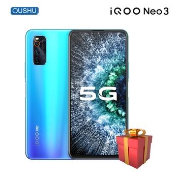 Перейти на Алиэкспресс и купить Vivo IQOO neo 3 Snapdragon 865 смартфон 8 Гб 128 ГБ 44 Вт Dash зарядка NFC 144 Гц гоночный экран 5G распознавание лица игровой телефон