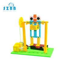 Sz Steam Kids DIY Electric Robot Horizontal Bar Educational Games Children Science Experiment Kits School Physics Learning Toys(China)