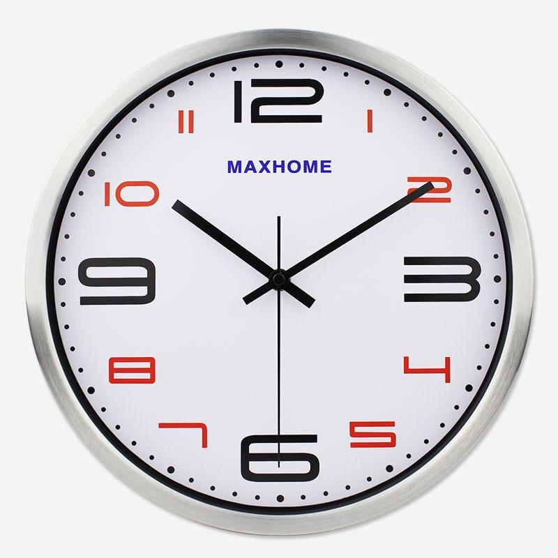 Horloge électronique de bureau en métal écologique horloge à Quartz de classe