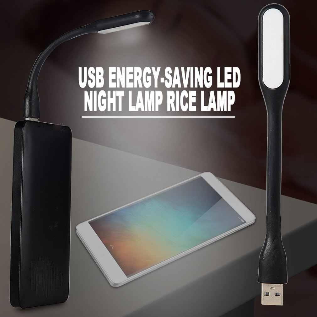Portable Mini USB LED Flexbiable Malam Cahaya Super Terang Lampu Kerja Lampu Baca untuk Power Bank PC Laptop Notebook DROP kapal