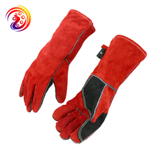 купить Rose Pruning Protective Gloves Women Leather Palm Gardening Welding BBQ Work Gloves дешево