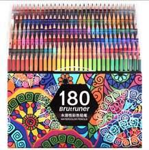 다색 180 색 전문 수채화 그리기 연필 아티스트 그림 스케치 나무 컬러 연필 학교 미술 용품
