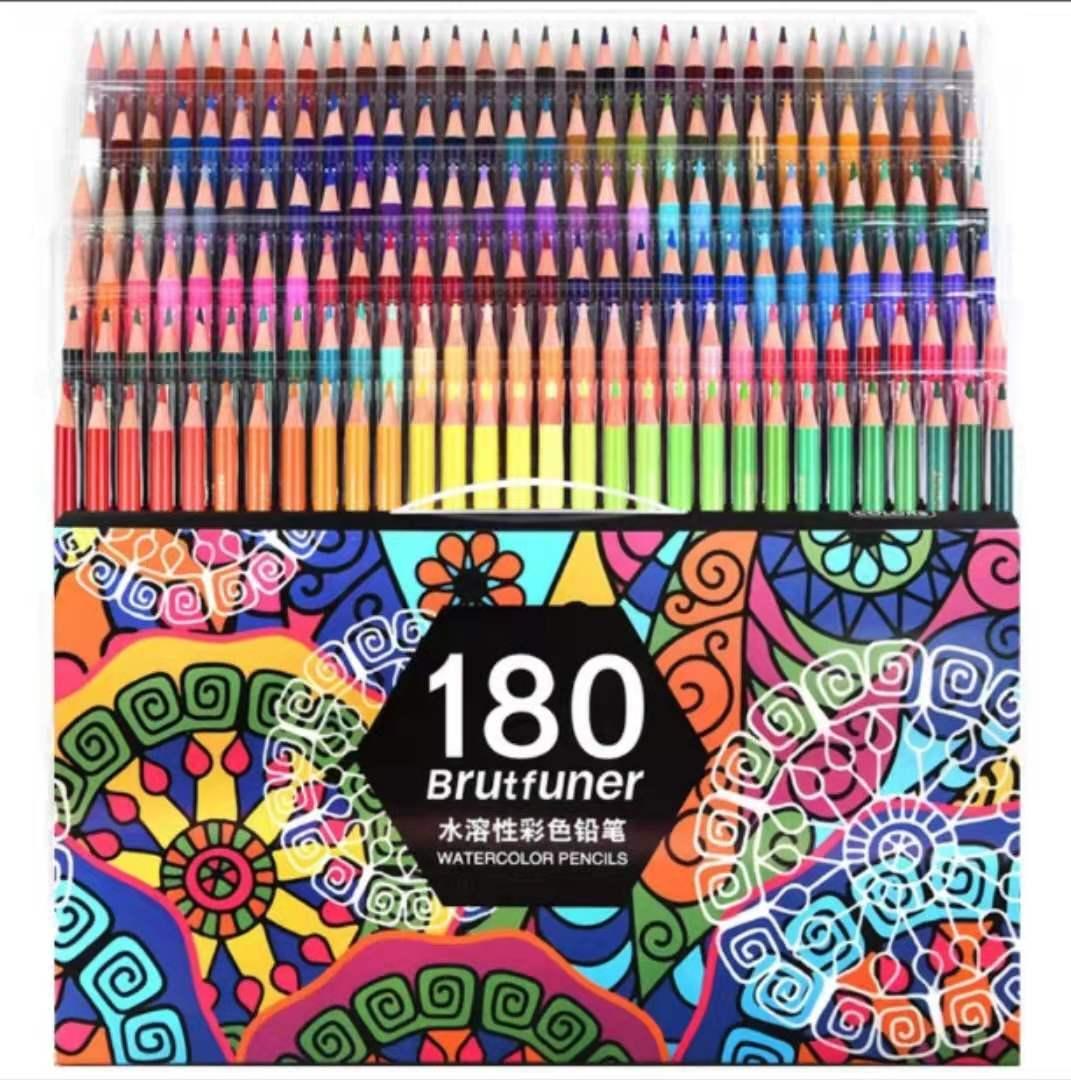 Multicor 180 cores profissional aquarela lápis conjunto artista pintura esboçar lápis de cor de madeira escola arte suprimentos 05866