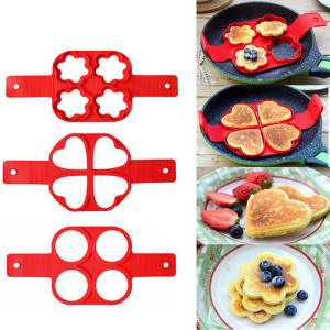 Fried Egg Pancake Maker Nonstick Cooking Tool Egg Cooker Pan Flip Round Heart Pancake Maker Eggs Mold Baking Accessories