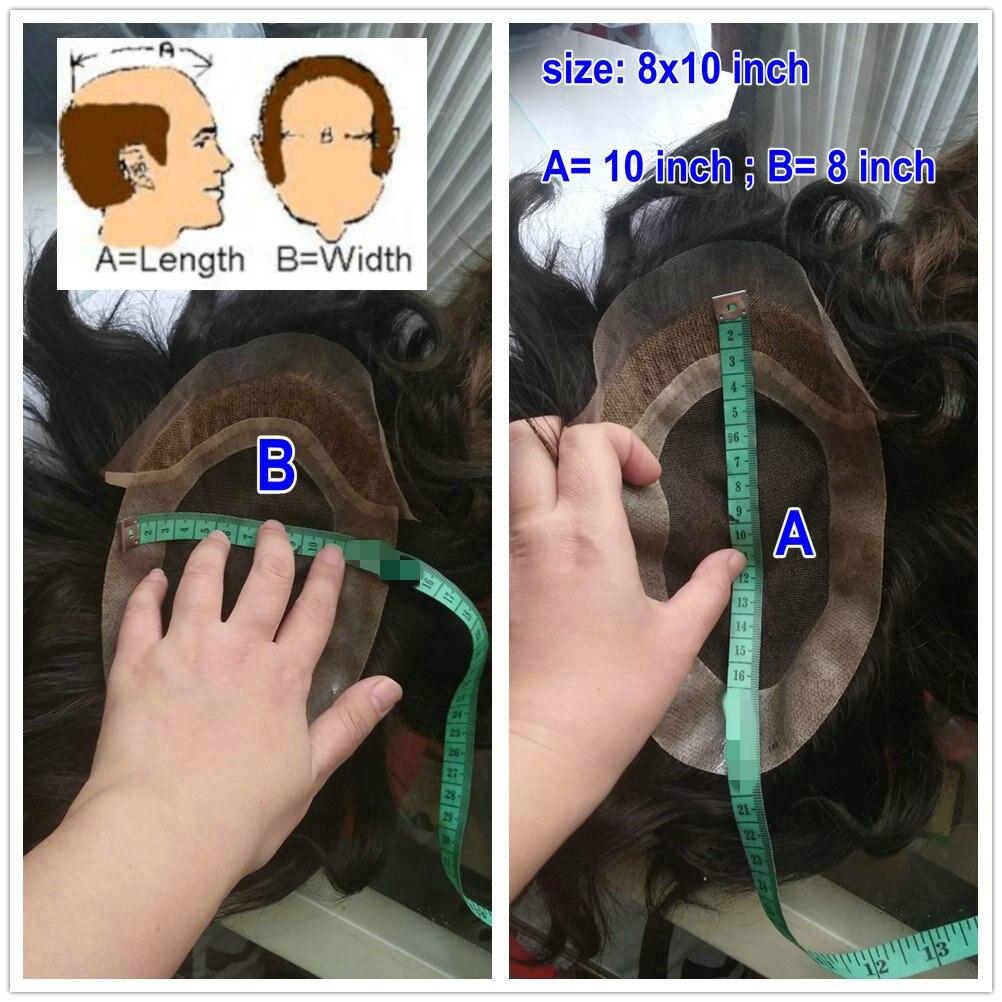 Image 5 - Hstonir супер тонкие волосы кожа человека Для мужчин invisible волос V цикл мужчины Накладки Пело естественного peluca corto humano h078humano    АлиЭкспресс
