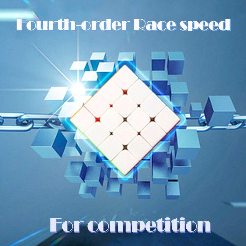 Cubes 4x4Cubo force magnétique vitesse poche autocollant cube Match but Puzzle Cube professionnel jouets éducatifs pour enfants gxwj