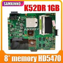 K52DR placa base de Computadora Portátil para For Asus K52DY A52D K52DE K52D X52D K52DR placa base 1GB HD5470 8 * memoria