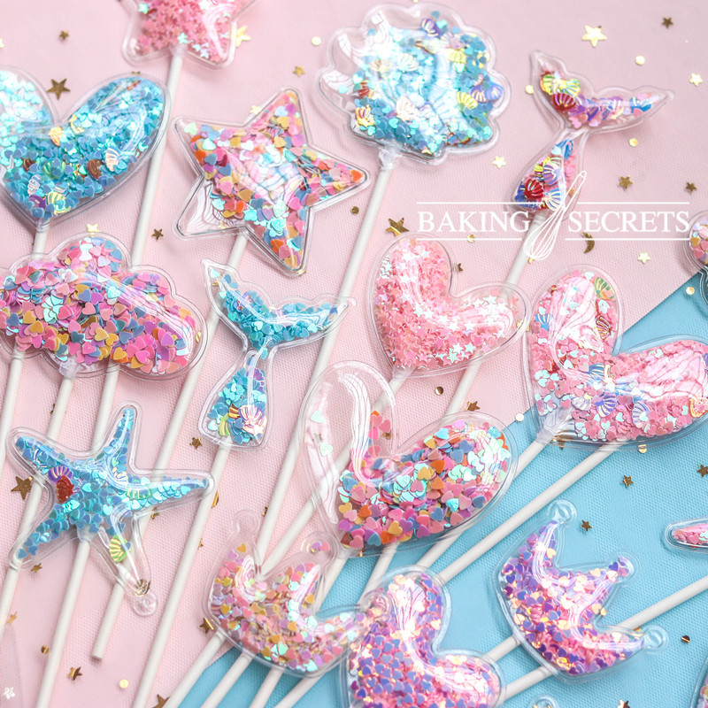 Cake Topper Flamingo unicorn mermaid theme bridal Baby Shower Birthday Bachelorette party beach wedding engagement Decoration