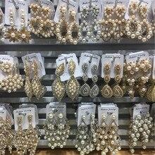 6 пар смешанный лот имитация жемчуга Эффектные серьги для женщин вечерние свадебные Висячие серьги ювелирные изделия