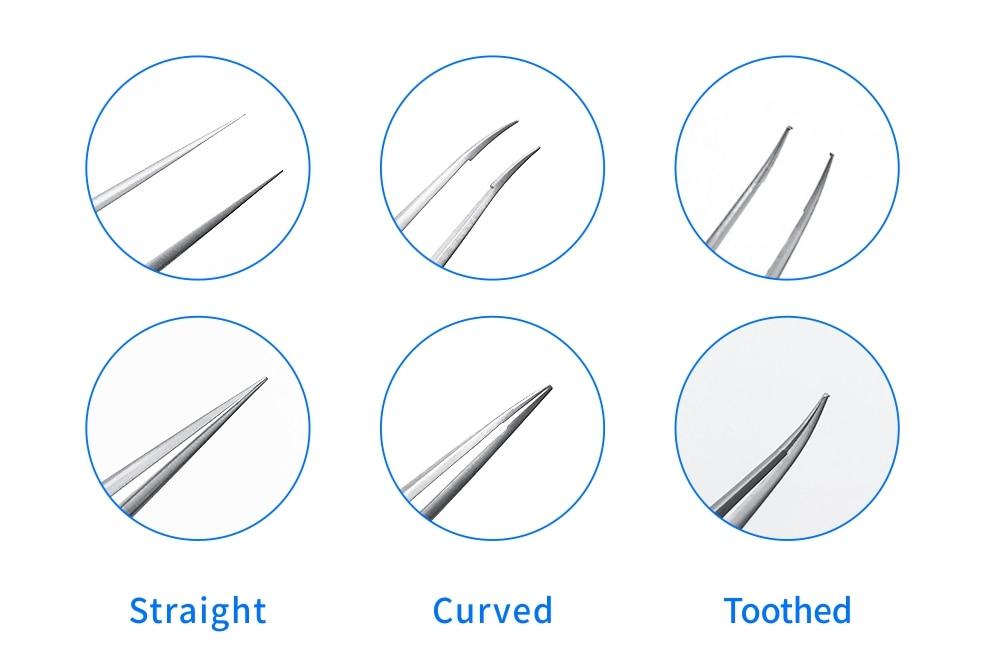 16cm titânio pinça oftálmica pinças alça redonda