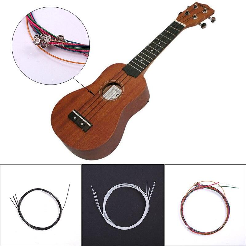 Ukulele Guitar Strings Parts Kit Universal Portable Super Light Copper