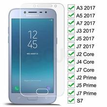 3D Tempered Glass For Samsung Galaxy J2 J4 Core J2 J5 J7 Prime Screen Protector For Samsung A3 A5 A7 J3 J5 J7 2017 S7 Glass Film