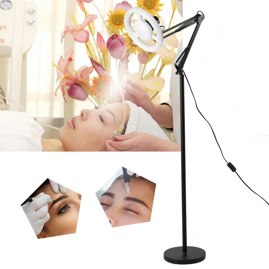 AC 220V LED Cold Light Tattoo Floor Lamp Adjustable Nail Art Illumination Lamp With EU Plug