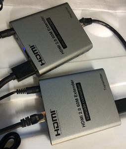 Image 5 - HDMI 2.0 4K 60HZ 60M przedłużacz HDMI 1080P 120M przez RJ45 Ethernet Lan CAT5e Cat6 kabel kaskadowy rozszerzenie połączenia PC DVD do telewizora
