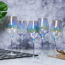 Rainbow cup colored wine cup ion plating Party Wine Cup Gift Cup various styles colorful crystal Champagne Cup