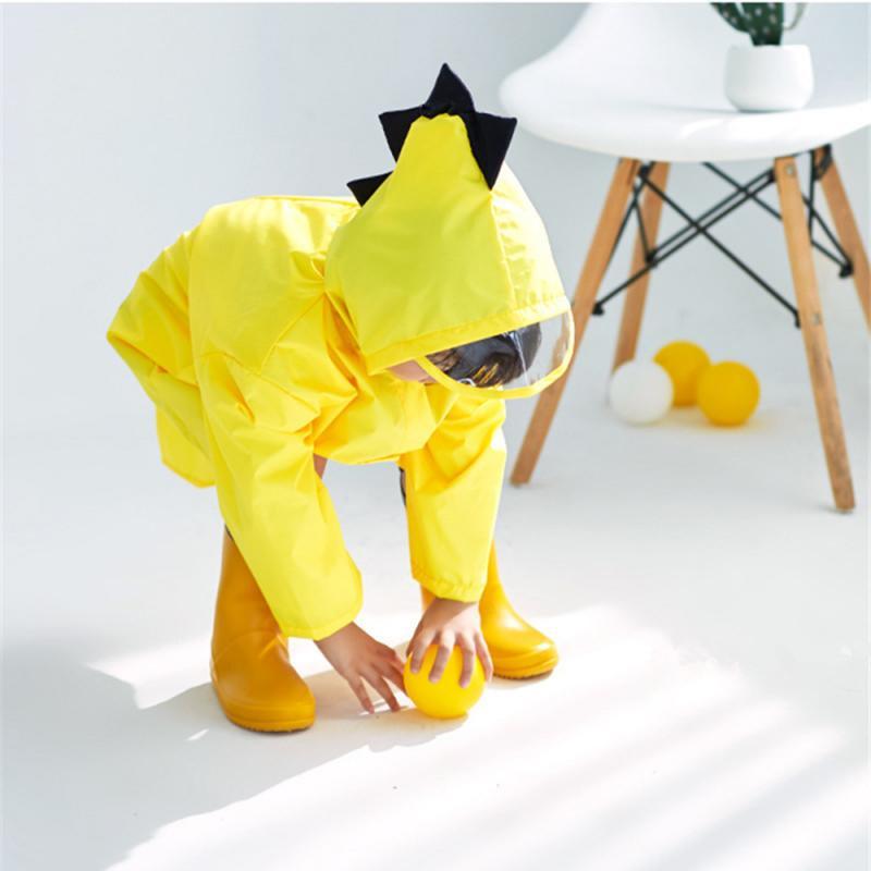 1PC Cute Little Dinosaur Raincoat Children\'S Baby Kindergarten Rain Coat Children\'S Windproof Poncho Spring And Autumn 2-6 Years