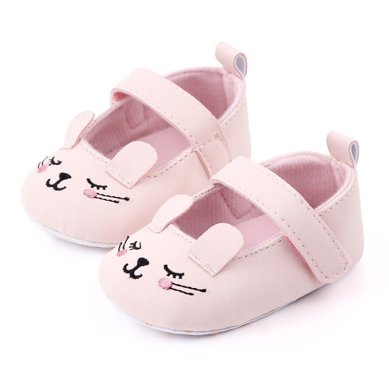 Baby Girl Shoes Toddler Infant Anti-slip Cute Cat Cotton Cloth First Walkers Shoes Kids Footwear Shoes 0-12M