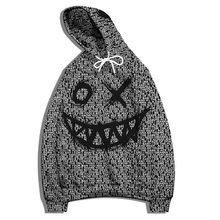 Funny Smiley 3D Print Hoodie Men's Clothing Fashion Trend Oversized Loose Sports Pullover Casual Sweater Harajuku Retro Punk