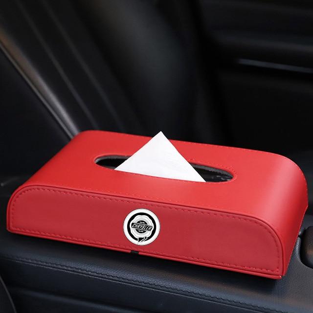 Car Tissue Box Interior Decoration For Chrysler 200 Voyager Delta Grand 200c 300c Pacifica Sebring PT Cruiser Accessories 4