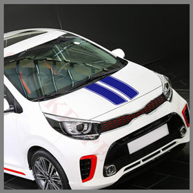 Car-Hood-Sticker-Engine-Cover-Decor-Decal-Sport-Styling-For-KIA-Picanto-Morning-GT-line-2012