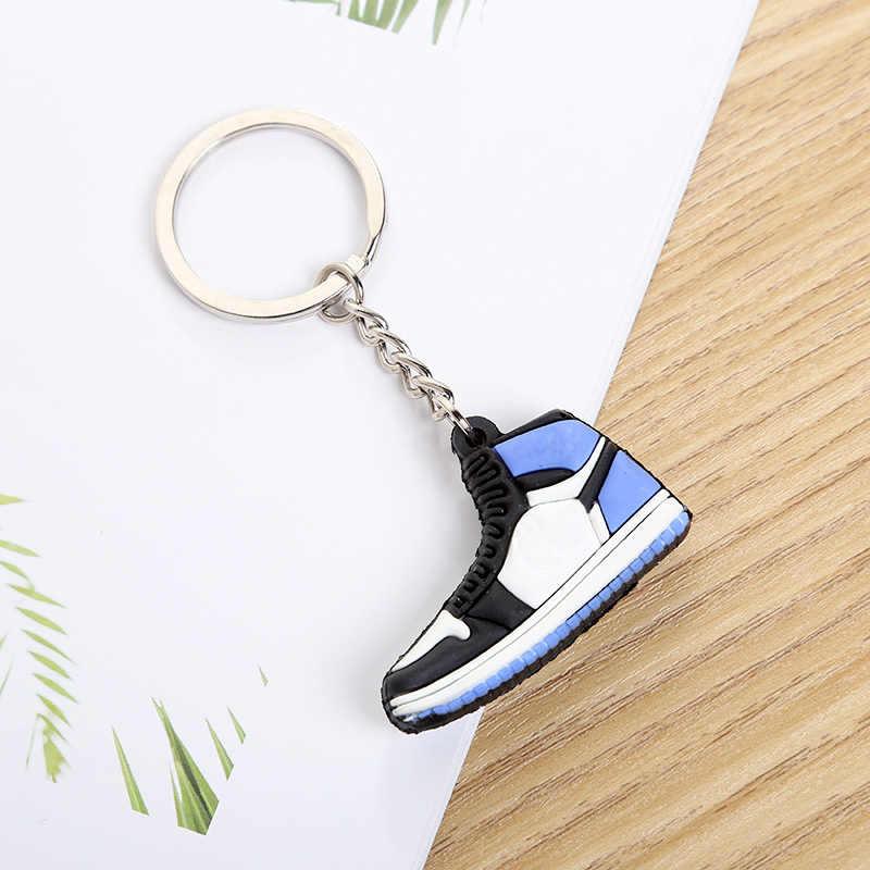 Mini Scarpe Fascino del Sacchetto del Keychain Donna Uomo Bambini Regali Portachiavi Accessori Air Scarpa Da Tennis Supporto Chiave Del Pendente