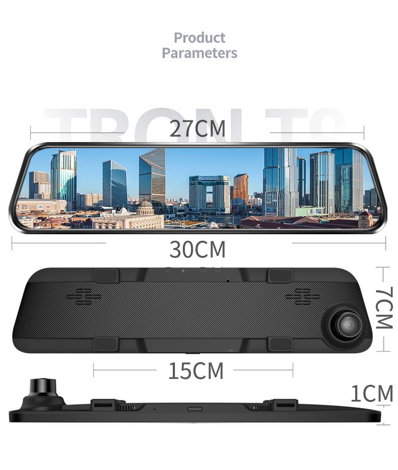 H3e147b1dcac74996aa7d2b46e74261068 - 12インチ バックミラー カー DVR カメラ GPS FHD デュアル1080Pレンズ 駐車24時間モーション検知