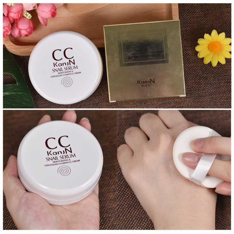 Pelembab Cover Cacat Bahkan Warna Kulit Concealer Makeup Foundation Cream Siput Ekstrak CC Cream