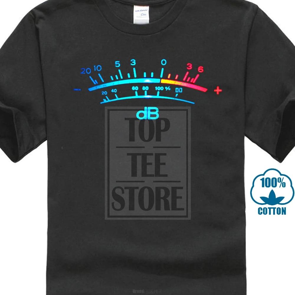 DB Meter II T-shirt Décibel Musique Rétro Radio Record Vinyle Stéréo Music Studio