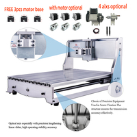 DIY CNC 3040 6040 frame kit mini CNC router lathe 4axis rotary axis for diy CNC 65mm spindle Nema23 motor Engraving Machine