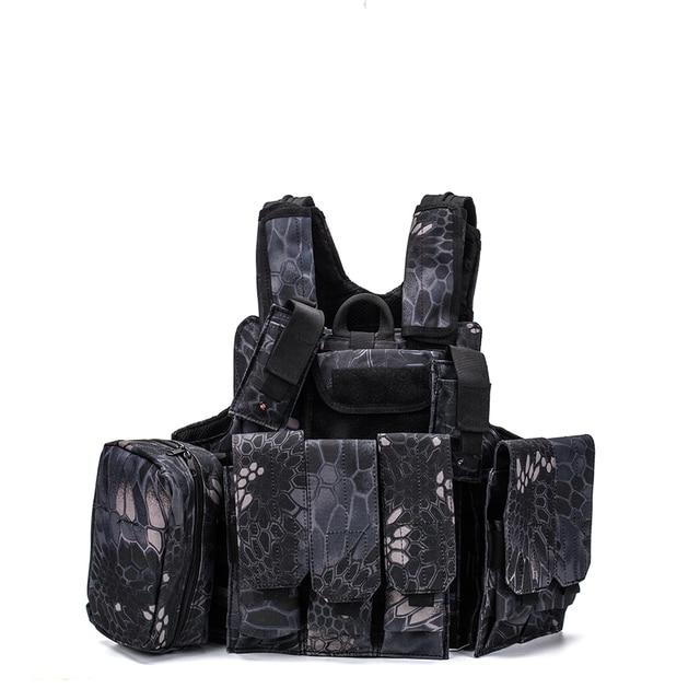Airsoft Military  CIRAS Tactical Vest Molle Combat Assault Armor Plate Carrier Tactical Vest Kryptek Black Outdoor Hunting Vest 1