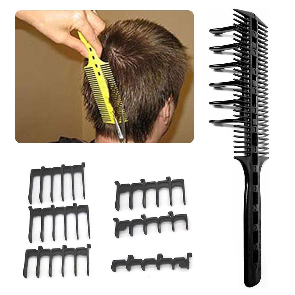 6Pcs/Set Hair Cut Tools Hair Brush Comb Salon Barber Anti-static Hair Combs Hairbrush Hairdressing Combs Hair Care Styling Tool