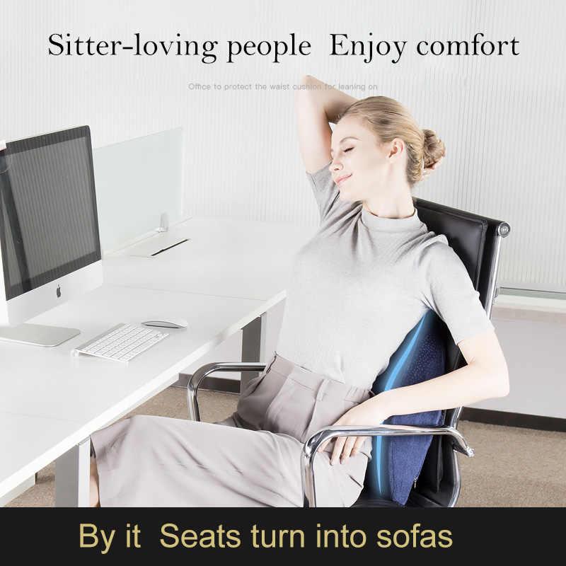 メモリ泡のランバーサポートバッククッションオフィスチェア事務所枕コンピュータ/オフィスシートクッション