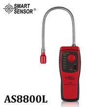Analisador de gás combustível porta detector de gás inflamável vazamento de gás natural localização determinar medidor testador som luz alarme as8800l