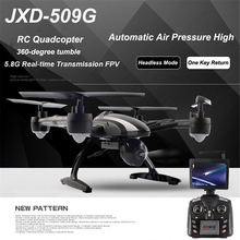 JXD509G RC Quadcopter Drone 5.8G FPV One-Key-return Rc Helicopter With HD 2.0MP camera Monitor RTF big Drone
