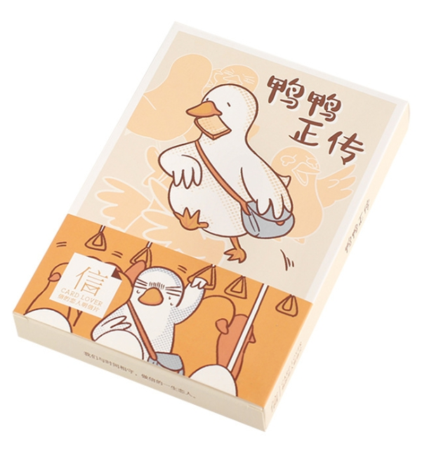 P210- Happy Duck Paper Postcard(1pack=30pieces)