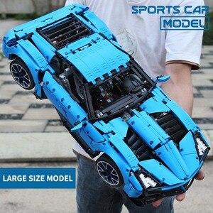 Image 5 - Technic Auto Serie Supercar Model Bouwstenen Bakstenen Kinderen Racing Speelgoed Compatibel Nieuwe 20091 20087 22970 Geschenken Sport Auto